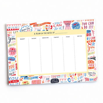 You Can Do It Un-dated Weekly Planner Pad