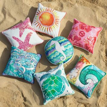 Surf N Sand Pillow Cover