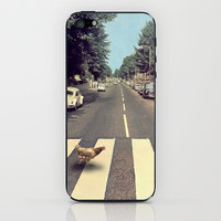 Why did the chicken cross THE road? iPhone & iPod Skin by John Medbury (LAZY J Studios)