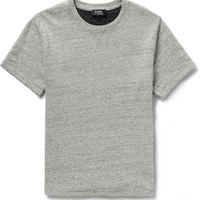 A.P.C. - Loopback Cotton-Jersey Short-Sleeved Sweatshirt | MR PORTER