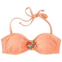 Xhilaration® Junior's Mix and Match Bandeau Swim Top -Creamsicle
