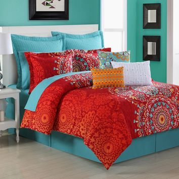 Cozumel Reversible 200TC Cotton Comforter Set by Fiesta Bedding - Bedding and Bedding Sets at Hayneedle