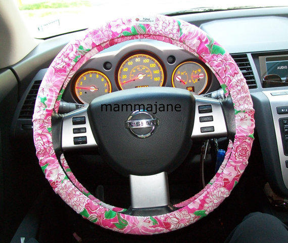 lilly pulitzer steering wheel cover from mammajane on etsy car. Black Bedroom Furniture Sets. Home Design Ideas