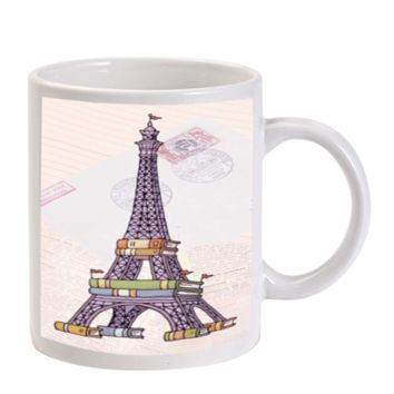 Gift Mugs | Eiffel Tower Book Ceramic Coffee Mugs