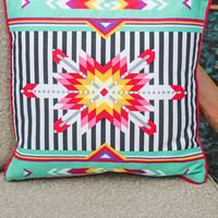 ModCloth Folk Art Kaleidoscope of Comfort Pillow