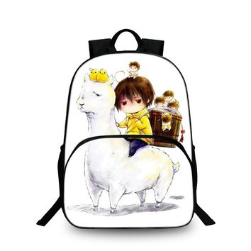 Alpaca Backpacks Fashion Bags For Childrens School Laptop Backpack