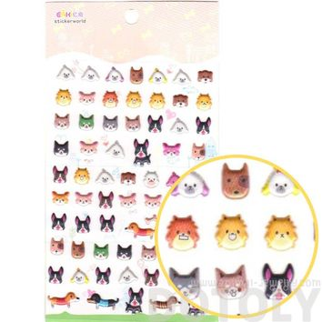Puppy Dog French Bulldog Dachshund Shaped Animal Spongy Stickers for Scrapbooking