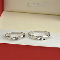 2pcs Free Engraving Platinum promise rings, Wedding Couple Rings, infinity ring, his and her promise ring set, wedding rings, matching rings