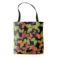 Butterfly Pattern Colorful Tote Bag