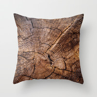 knock on wood Throw Pillow by Susigrafie