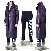 Joker Costume Trench Coat Suicide Squad Cosplay Costumes Full Size Full Set