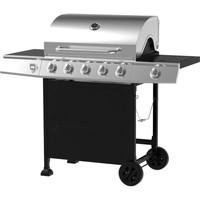 5-Burner Gas Grill, Stainless Steel/Black - Walmart.com