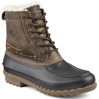 Sperry Top-Sider Decoy Shearling Duck Boots for Men in Brown STS14469