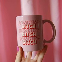 Business Bitch Ceramic Mug in Pink