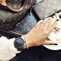 Black Mercer ladies watch | ROSEFIELD Watches
