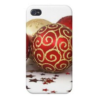 Christmas tree ball ornaments iPhone 4 covers