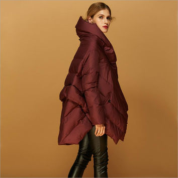 Manufacturers Outlet 2016 new 90% duck down warm parkers women's fashion cloak style design clothes feather coat w1138
