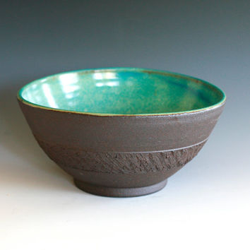 SALE////Handmade Oval Ceramic Bowl by ocpottery on Etsy
