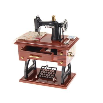 Vintage Sewing Machine Mini Sewing Machine Mechanical mechanism for Music Box For Birthday Gift music box mechanism