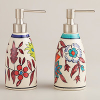 HAND-PAINTED SOAP DISPENSER