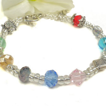 Gift for Friend with Cancer, Cancer Bracelet, Ovarian, Lung, Breast Cancer B2
