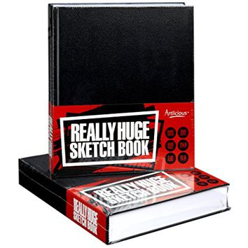 "Artlicious - REALLY HUGE SKETCH BOOK - 600 Page Hard Covered - 10.75"" x 12.5""- WHOPPING 7.42 Pounds!"