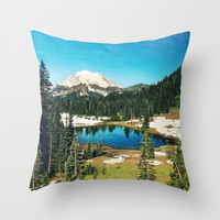 Lake reflections Throw Pillow by Sylvia Cook Photography