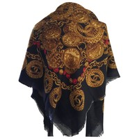 Chic Chanel Large Wool Shawl
