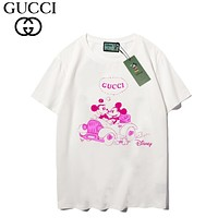 GUCCI & Disney New fashion letter mouse print couple top t-shirt
