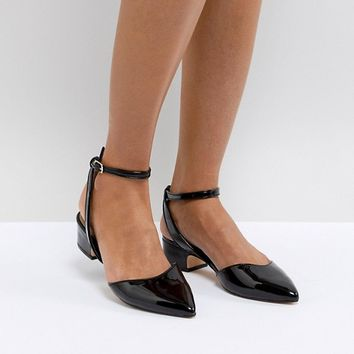 ALDO Zewiel Low Heel Pointed Shoe in Black at asos.com