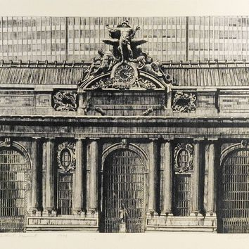 Grand Central  Station Lithograph