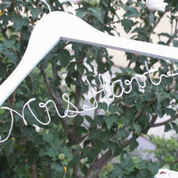 Wedding Gift,Bride gift,Personalized Wedding Hangers,Name Hanger,shower gifts custom made wedding Hangers,Bridal Hangers,