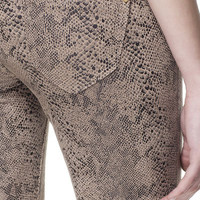 SNAKE PRINT TROUSERS - Trousers - Woman | ZARA United States