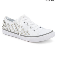 Aeropostale Womens Studded Low-Top Sneakers - Bleach,