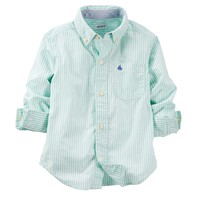 Carter's Woven Poplin Button-Down Shirt - Baby