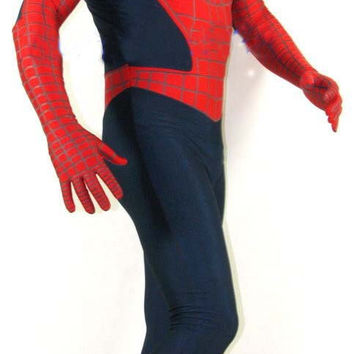 Free Express Shipping Sexy Adult Children Spiderman Costumes For Men Zentai Superhero Lycra Spandex Unitard Party Suits Clothes