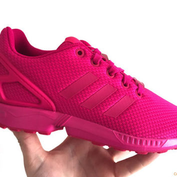 "Adidas Originals ZX Flux (Junior/Womens) - Bold Pink ""All Pink"""