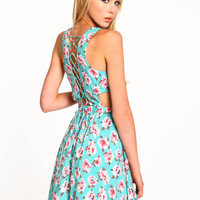 Lace Up Blossom Dress