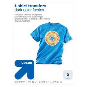 Dark T-shirt Transfers - up & up™
