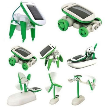 Creative DIY 6 IN 1 Educational Learning Power Solar Robot Kit Children Kids Toy = 1946224964