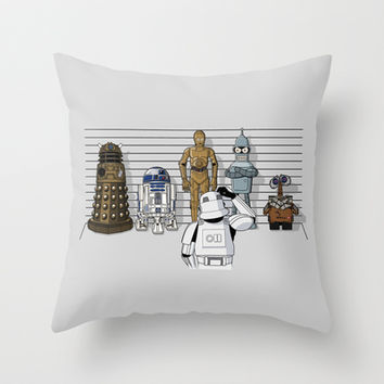 Star Wars Droid Lineup Throw Pillow by RebelArtCollective | Society6