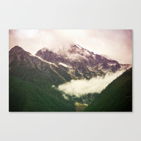 The Mountains Are Calling Canvas Print by Noonday Design