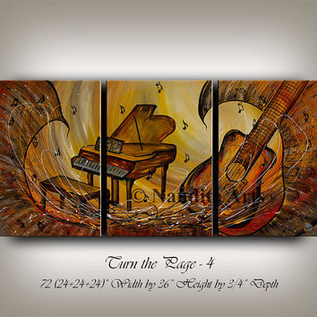 "Modern Violin Art, Music art ""Mystic Melody"" Large Original Violin Painting, Saxophone art, saxophone wall art Gallery by Nandita Albright"