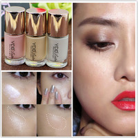 30ml Brand Makeup 3 Color Shimmer Shine Golden Concealer Highlighter Liquid Brightener Make Up Highlight Concealer Face Bronzer
