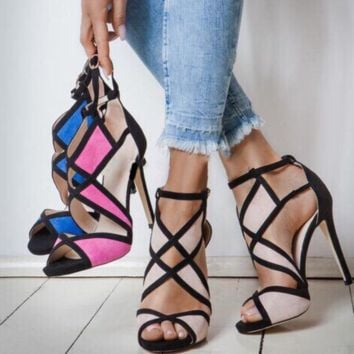Hot style is a hot seller. It shows sexy heel sandals in cut-out colors