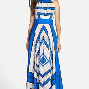 Women's Eliza J Scarf Print Woven Maxi Dress
