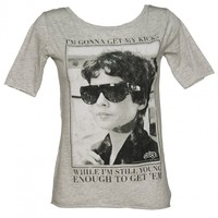 Ladies Rizzo Get My Kicks While I'm Young Grease Scoop Neck T-Shirt : TruffleShuffle.com