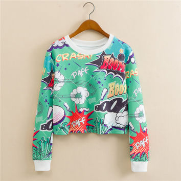 Stylish Cartoons Print Long Sleeve Hoodies [9101512455]