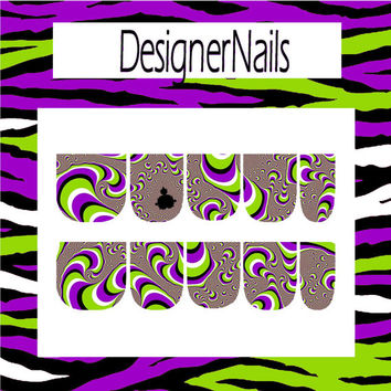 optical illusion Nail Decal