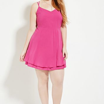 Plus Size Strappy Cami Dress
